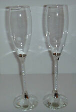 Wedding Toasting Glasses with crystal stem / Champagne Flute / bridal
