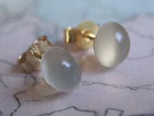 schöne Mondstein Ohrstecker 7,5 mm Gold 333,Ohrstecker Gold 333 mit Mondstein