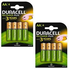 8 x Duracell AA 1300 mAh PRE/ STAY CHARGE Rechargeable Batteries NiMH HR06 phone