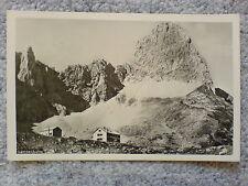 1 alte AK Österreich, Lamsenjochhütte Tirol gelaufen 1952 Hüttenstempel