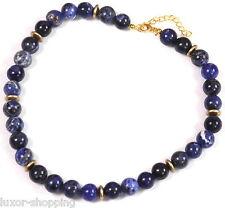 NEU Sodalith blau Kette L 41cm Halskette Collier Edelsteinkette Modeschmuck