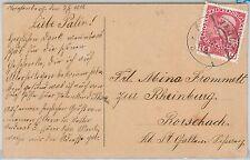 LIECHTENSTEIN  / AUSTRIA -  POSTAL HISTORY -  POSTCARD from VADUZ 1910