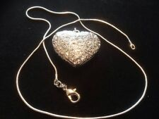 sterling silver chain necklace with heart pendant all handmade stunning