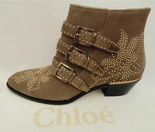 Chloe Susanna Suede Studded leather Boots Shoes UK8 EU41 New