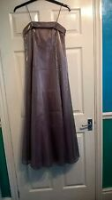 Mink silk look dress size 8 party evening cocktail prom wedding full length gown