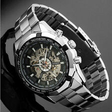 Mens  Steampunk Transparent Skeleton Automatic Men's Mechanical Watch Luxery