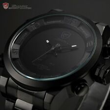 Gulper Shark 2nd Generation Mens Black Dial LED Date Day Quartz Wrist Watch Cool