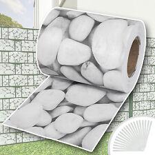 PVC Sichtschutz Streifen Sichtschutzfolie Doppelstabmatten Zaun Schutz 35m kies