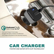 Black Car Quick Charger 2.0 Portable Charging Fast iPhone 6 iPhone 6S Samsung