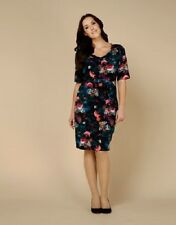 BNWT MONSOON CLEMENCE BODY SHAPING WIGGLE SHIFT FLORAL PRINT DRESS 22