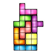 OFFICIAL TETRIS RETRO LIGHT LAMP - 7 Tetrimino Pieces Mains Powered Gift Boxed