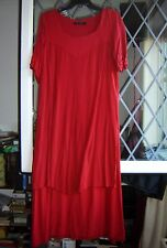"""*Gudrun Sjoden* Christmassy red tiered lagenlook maxi dress M 38"""""""