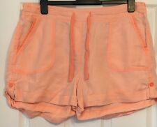 M&S Linen orange Shorts size 16