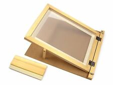 A4 Screen Printing Starter Kit Wooden Hinged Frame & Squeegee Complete Set 78528