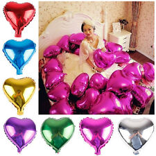 """10x 18"""" Heart Foil Helium Balloons Wedding Birthday Party Engagement Decoration"""