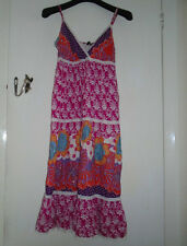 Multicoloured Floral M&Co Summer Cotton Long Dress in Size 10 - imperfect