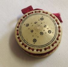 Antique 1800s Carved PINWHEEL PINCUSHION