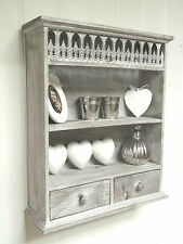 Shabby Chic Wall Unit Shelf Storage Cupboard Cabinet French Vintage Style NEW