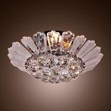 Modern Semi Ceiling Light Lighting Flush Mount Crystal Pendant Chandelier Lamp