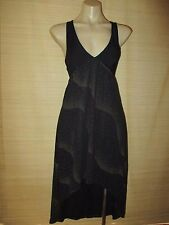 MinkPink Black GOLD dot swallowtail clubwear  Empire BUST lace-up DRESS Size XS