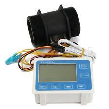 """2"""" Durchflusssensor Durchflussmesser mit LCD-Display Control DC 24V 9999L/min"""