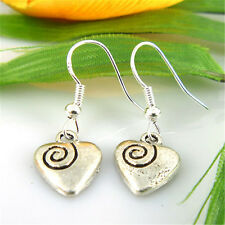 new Wholesale 2 Pair/Lot Charm Lady Fashion Jewellery Silver Love Stud Earrings