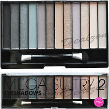 Technic 12 Eyeshadow Mega Sultry 2 Palette Kit Colours Make Up Eye Shades Girls