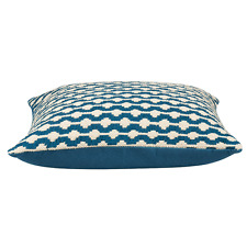 Reece Petrol Heavy Woven Cotton Cushion Cover