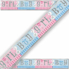 3.7m Baby Shower Party Foil Banner Gender Reveal Party Supplies Unisex Neutral