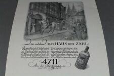4711 Echt Kölnisch Wasser  - alte Reklame auf Papier 1950er Jahre   /S127