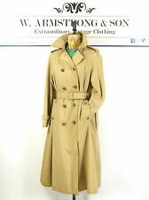 Women's Cream Stone AQUASCUTUM Trench Mac BELTED Alexa Vintage 70s MOD Coat 14