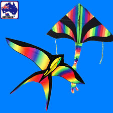 2 Kites Rainbow Swallow + Delta Kite Line Included OKITE2501+3301&OKLIN2100x2