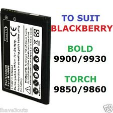 Blackberry Bold 9900 9930 Torch 9850 9860 1300mAh JM1 JM-1 Replacement Battery