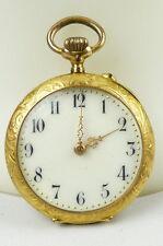 Damen-Taschenuhr aus 585er Gold mit Zylinderwerk, original alt um 1900 (da4467)