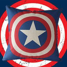 Justice League Captain America Home Decorative Cotton Linen Pillow Case Cushion