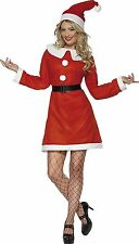 Smiffy's Miss Santa Costume Father Christmas Fancy Dress Outfit - Medium