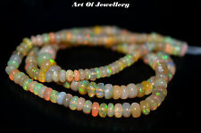 """40 Ct 100% Natural Of Ethiopian Welo Fire Opal Smooth Cabochon Beads 14"""" Strand."""