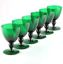 6 grüne Weingläser Glas Gläser smaragd grün Wassergläser H2F