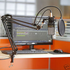 Broadcast Mic Desktop Microphone Suspension Boom Scissor Arm Stand Holder UK