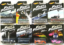 2016 Hot Wheels FAST and FURIOUS 8 CAR SET - FORD CHEVY DODGE TOYOTA & HONDA!