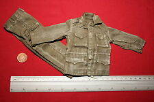 DRAGON 1:6TH SCALE WW2 U.S. ARMY WEATHERED M1943 FIELD JACKET & TROUSERS CB23005