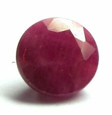 A PAIR OF 4mm ROUND-FACET RED/PURPLE NATURAL INDIAN RUBY GEMSTONES