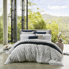 PRIVATE COLLECTION LIANA NAVY Floral Queen Size Bed Doona Duvet Quilt Cover Set
