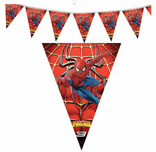 Super Heroes Spider-Man Flags Banner Bunting Birthday Party Decorations Supplies