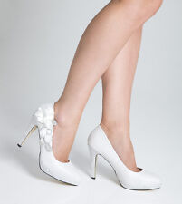 Wedding Shoes Bridal Evening High Heel Ladies Shoes - White - Size 4 - Seconds