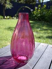 NEW - PINK GLASS VASE Rustic Bottle Bud Shaped Vase 10 cm x 20cm high