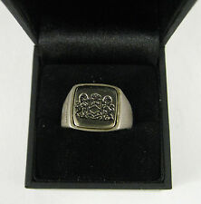 NEW Juicy Couture Men's Sterling Silver Ring Size 10 Emblem 925 NIB
