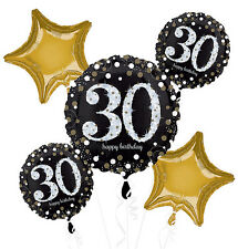 30th Birthday Party Supplies FOIL BALLOON BOUQUET Anagram Licensed