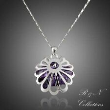 White Gold Plated Swarovski Austrian Crystal Water Drop Pendant Necklace