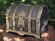 Metal treasure chest trinket box